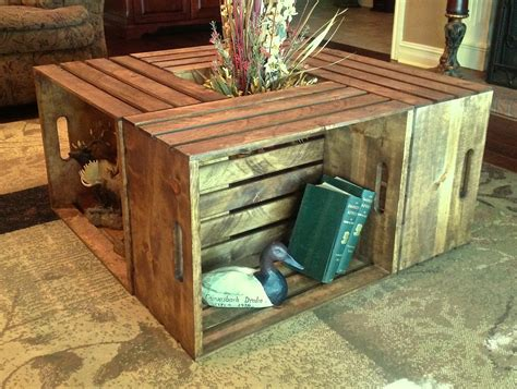 crate coffee table for a living room design