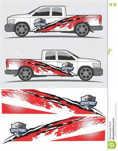 Vehicle Graphic Templates by Truck And Vehicle Decal Graphic Design Stock Vector