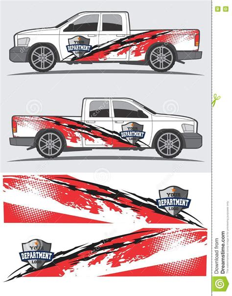 Car Sticker Design Free Download by Truck And Vehicle Decal Graphic Design Stock Vector