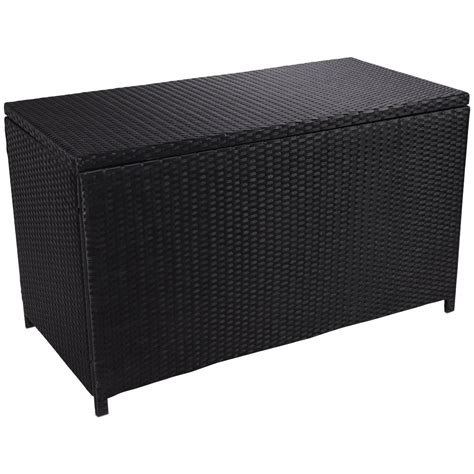 Outdoor Wicker Deck Cushion Storage Box Mordern Patio Patio Furniture Cushion Storage