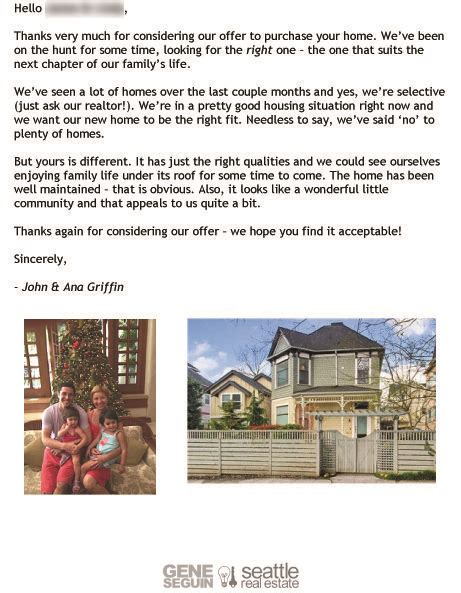 Letter To Purchase A Home