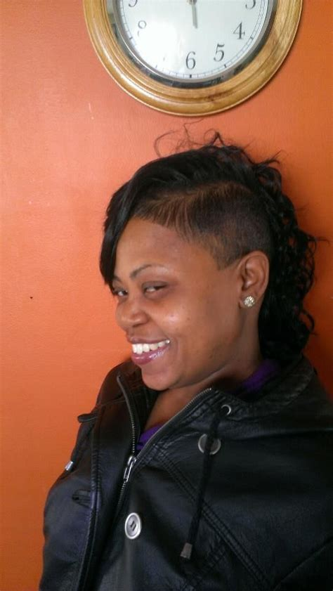 shaved side sew in hair mob member photos collections
