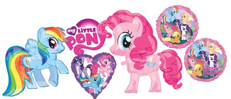 Balon Foil Pony Pink anagram 17 inch my pony birthday from category