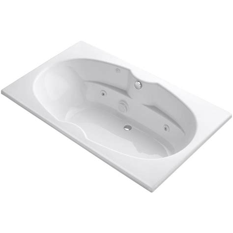 6 ft tub kohler proflex 6 ft whirlpool tub in white k 1131 0 the