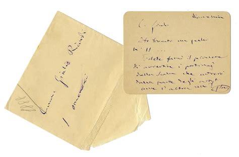 lettere di verdi verdi giuseppe breve lettera autografa firmata inviata a