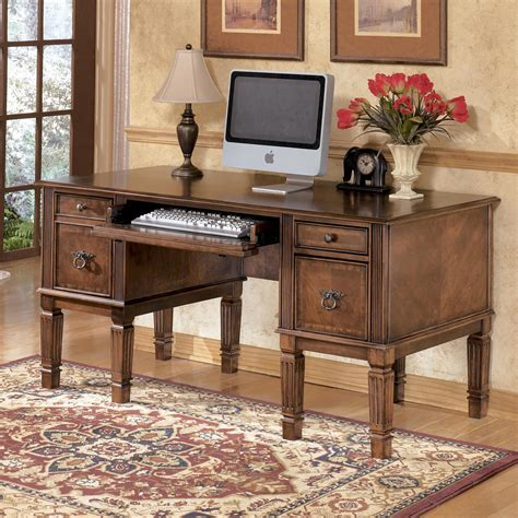 storage leg desk with file drawer by signature design by
