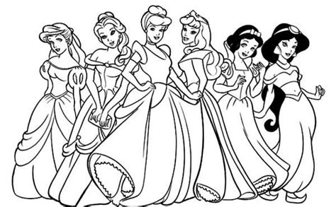 Fancy All Disney Princesses Coloring Pages 60 About All Disney Princess Coloring Pages Free Coloring Sheets