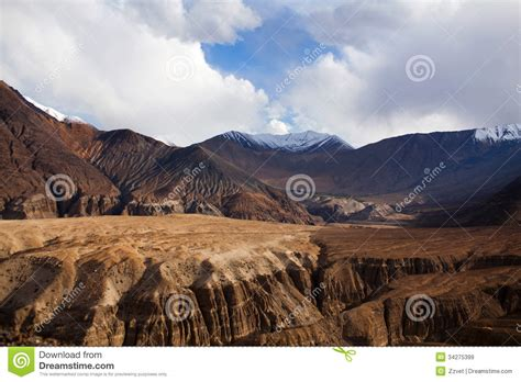karakoram mountain landscape in ladakh india stock photography cartoondealer 28217762