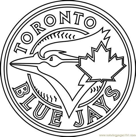 Kaos Toronto Blue Jays Logo 2 blue jays mlb coloring pages printable sketch coloring page