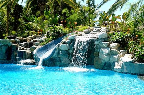 backyard fun pools breathtaking pool waterfall design ideas