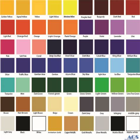 all color oracal 651 all color bundle 63 colors 12 quot x 12 quot sheets