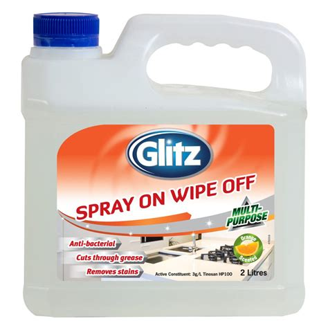 No Wipe Shower Cleaner by Glitz Spray On Wipe 2l Glitz For Effortless Cleaning
