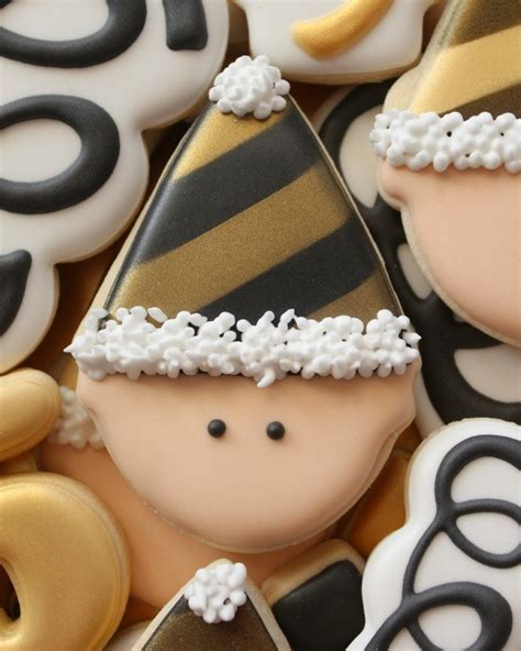 new year cookies how to make black royal icing the sweet adventures