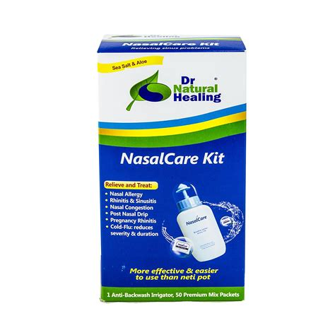 Sinus Detox Symptoms by Nasalcare 8oz 240 Ml Irrigator 50 Ct Kit Dr