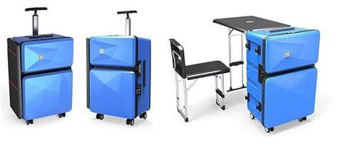 auca multi purpose luggage transforms into furniture the
