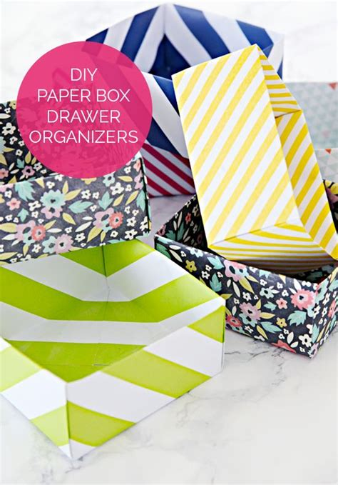 paper drawer organizer diy diy paper box drawer organizers and an organized