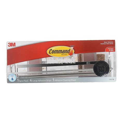 Command Adhesive Shelf by 3m Command Stainless Steel Spice Rack 17677b