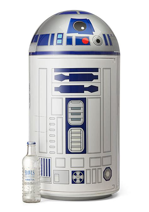 co r2 r2 d2 14 liter fridge thinkgeek