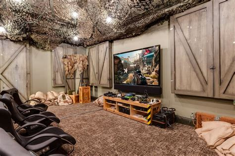 Camouflage Bedroom Set Army geek dream mansion for sale with star trek theater and
