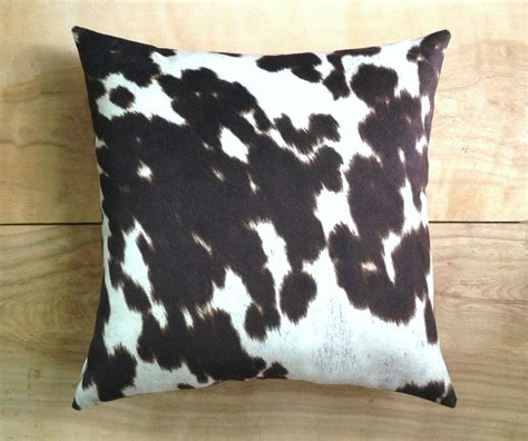 cowhide pillow faux cowhide western cowboy by robincottage - Cowhide Pillow