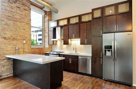 brown and white kitchen cabinets small kitchens with dark cabinets design ideas