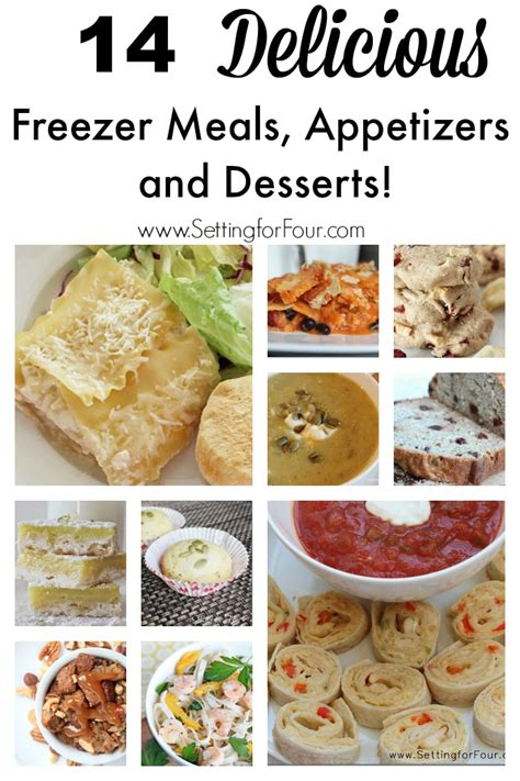 freeze your meals the freezer cookbook busy need books 14 delicious freezer meals appetizers and desserts