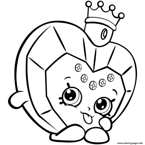 Printable The Coloring Pages shopkins donut coloring page printable 9 shopkins