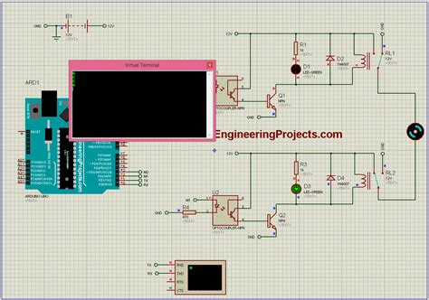 and proteus dc motor direction with arduino in proteus the