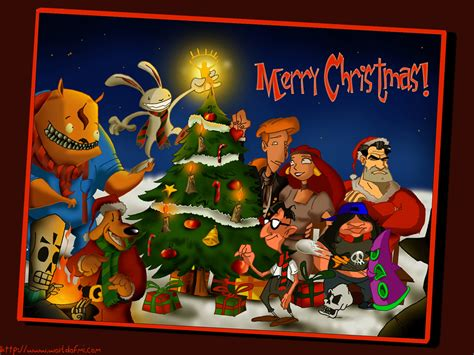 wallpapers games wallpaper lucas arts merry christmas