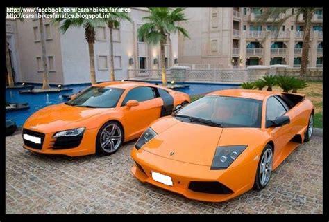 Audi R8 Lamborghini Car Bike Fanatics Orange Audi R8 With