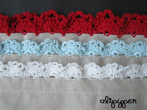 alipyper eyelet lace crochet edging pattern