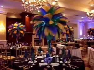 Vase Decoration Ideas Table Centerpieces Mardi Gras Themed Ostrich Feather Centerpieces Rentals At