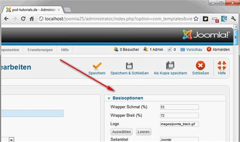 tutorial website joomla 2 5 joomla 2 5 teil 34 eigene templates entwickeln 5