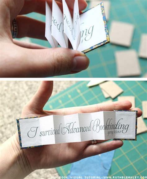 How To Make A Paper Mini Book - mini book tutorial