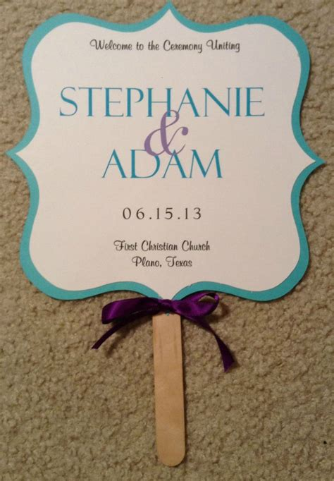 free wedding fan templates two sided wedding fan program blue and purple