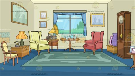 cartoon living room background a sitting room filled with antiques background cartoon