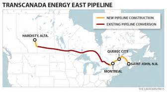 transcanada forward with west east pipeline