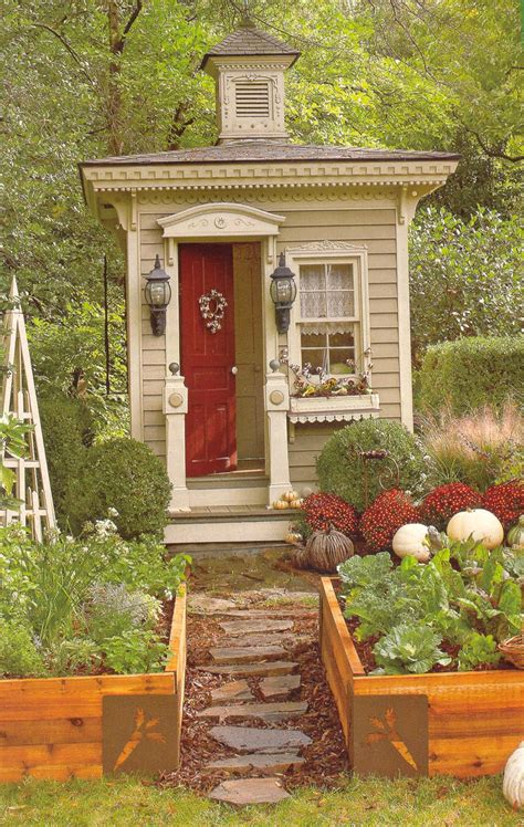 House To Home Small Garden Relaxshacks A Tiny Outhouse As A Small