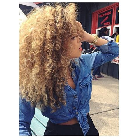 honey blonde curly hair pictures   images