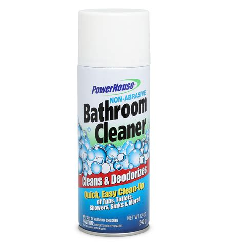 non abrasive bathtub cleaner powerhouse non abrasive bathroom cleaner 12 oz hollar