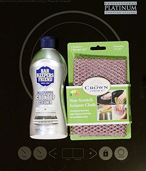 bar keepers friend stove top bar keepers friend cooktop cleaner kit liquid 13 oz and