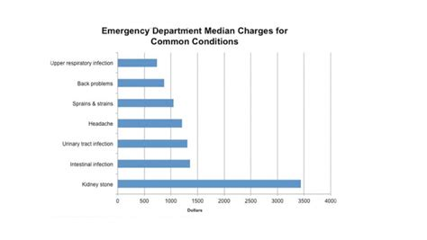 cost of emergency room visit without insurance how much will i be charged at the emergency room uc san francisco