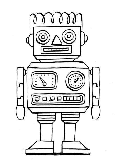 Robot Coloring Pages Free Robots Coloring Pages 4 My As A Robot Coloring Pages