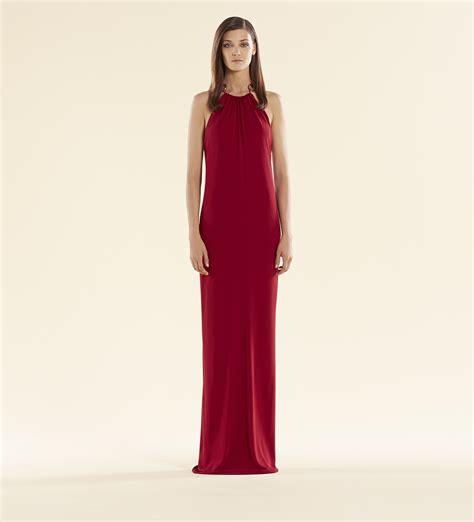 lyst gucci raspberry dress with horsebit halter in