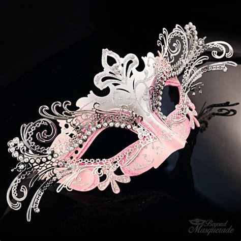 light blue masquerade masks pink laser cut venetian mardi gras masquerade mask