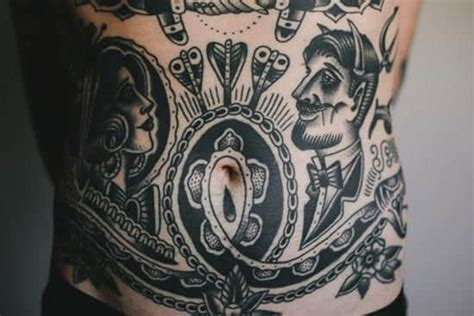 stomach tattoos for black men stomach tattoos for ideas and inspiration for guys
