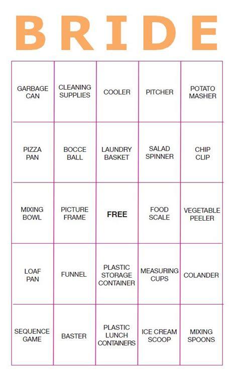 Free Bridal Shower Gift Bingo Cards - 11 free printable bridal showers bingo cards
