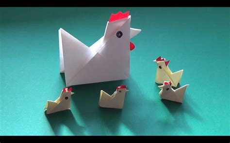 Origami Chicken - how to fold yourself a paper chicken in less than five