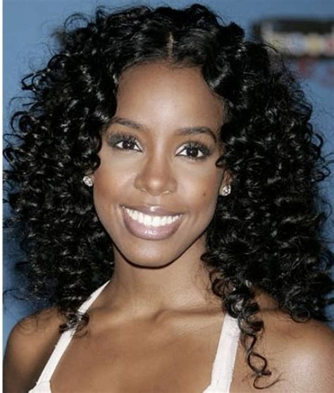 Wavy Hairstyles For Black Hair by The Gallery For Gt Black Curly Hair From The Back