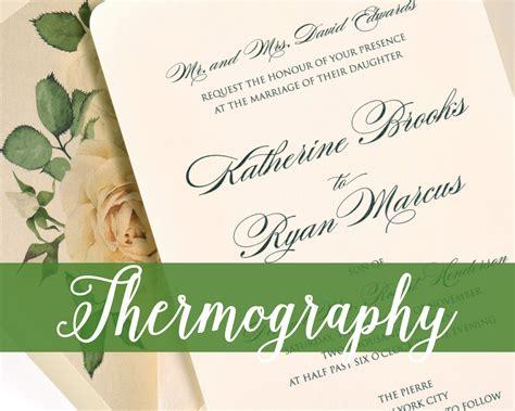 custom wedding invitations thermography thermography wedding invitations cat paperie